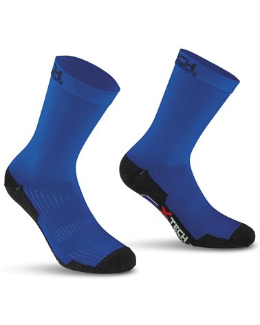 XTech Calze Ciclismo Professional Carbon, Blu