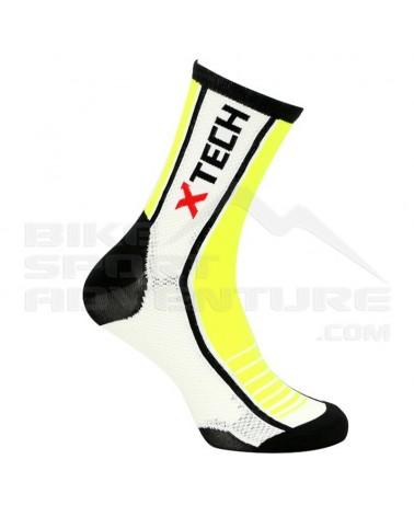 XTech Calze Ciclismo XT80, Giallo Fluo