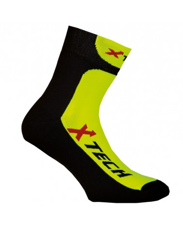 XTech Copriscarpe Ciclismo XT-67, Black/Yellow