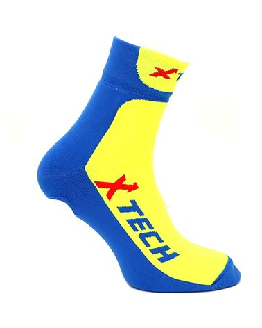 XTech Copriscarpe Ciclismo XT-67, Blue/Yellow