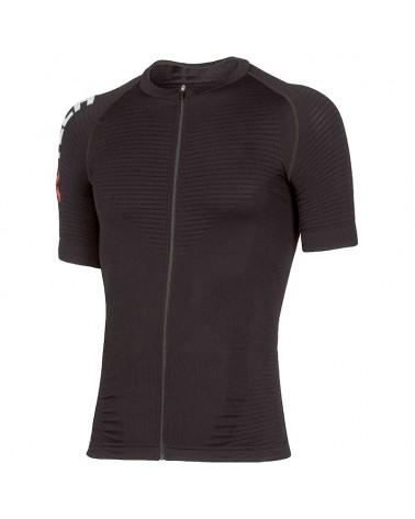XTech Podium T-Shirt Full Zip Maglia Maniche Corte Uomo, Black