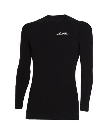 XTech Merino-Tech Long Sleeve Base Layer, Black