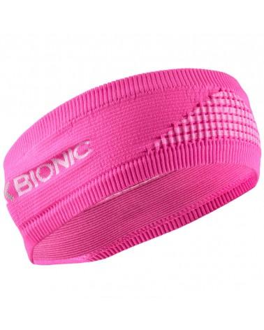 X-Bionic Headband 4.0 Fascia Testa Invernale, Flamingo Pink/Arctic White