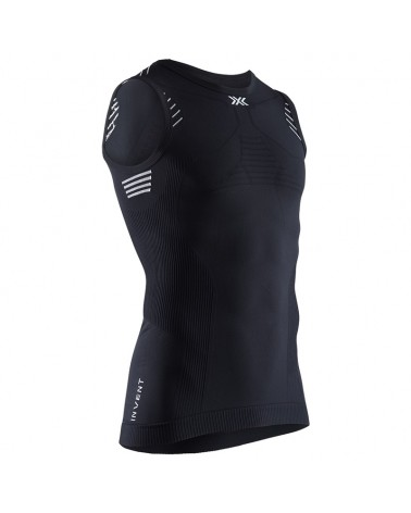X-Bionic Invent LT Singlet Men's Multisport Sleeveless Tee, Opal Black/Arctic White