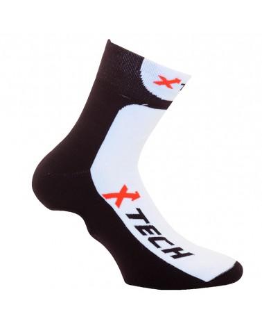 XTech XT67 Copriscarpe Ciclismo, Nero/Bianco