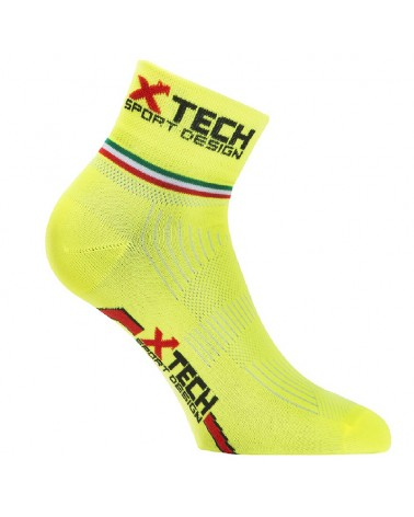 XTech Ciclo Pro Ciclyng Socks, Fluo Yellow