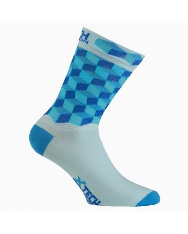XTech XT117 Ciclyng Socks, Light Blue