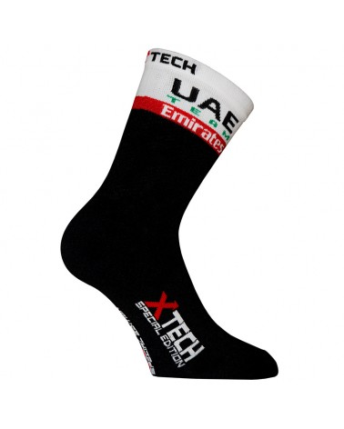 XTech UAE Team Pro Summer Calze Ciclismo, Nero