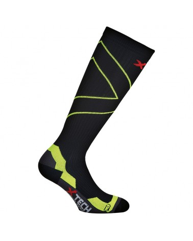 XTech X-Running Calze Running, Black