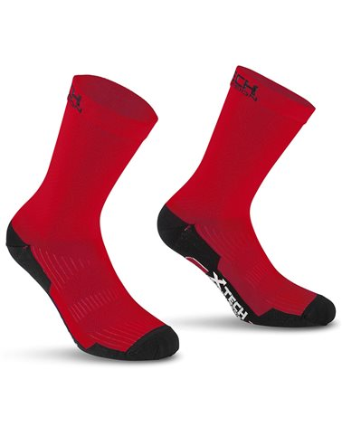 XTech Calze Ciclismo Professional Carbon, Rosso