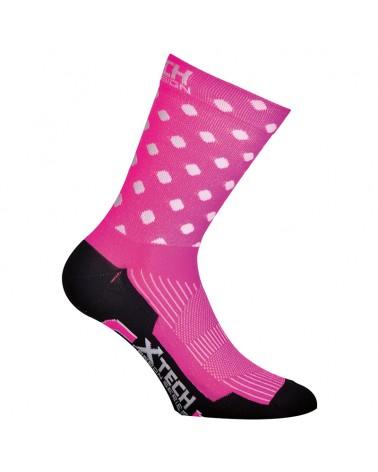 XTech XT84 Calze Ciclismo, Pink