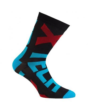 XTech XT132 Cycling Socks, Black/Blue