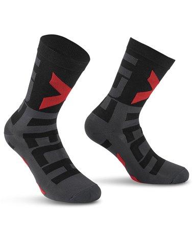 XTech XT132 Cycling Socks, Black/Grey
