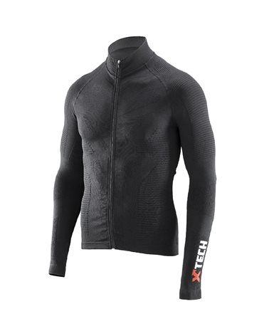 XTech Winter Pro Men's Long Sleeve Cycling Jersey, Black