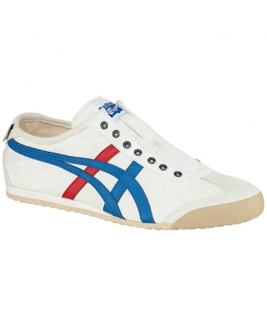 Onitsuka Tiger Mexico 66 Slip-On Shoes, White/Tricolor