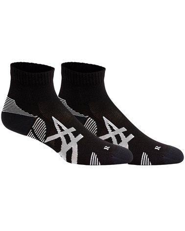 Asics 2PPK Cushioning Calze Running Corte Uomo, Performance Black/Performance Black (2 Paia)
