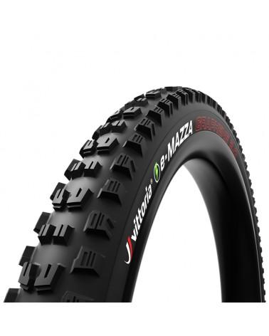 Vittoria e-Mazza Enduro/e-MTB 27.5x2.6 4C G2.0 TLR Tubeless Ready Tire 120 TPI 2-ply, Black