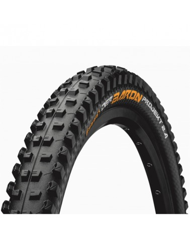 Continental Der Baron 2.4 Projekt ProTection Apex 27.5x2.4 Folding Tyre, Black/Black Skin
