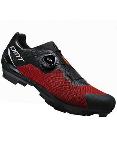 DMT KM4 Scarpe MTB XC/Marathon Uomo, Black/Red