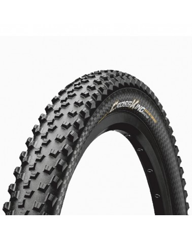 Continental Cross King 2.2 ProTection 27.5x2.2 Folding Tyre, Black/Black Skin