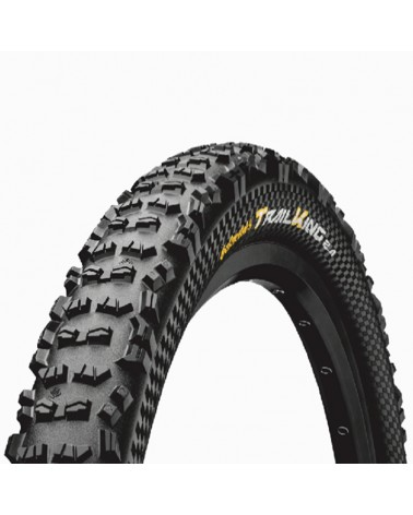 Continental Trail King II 2.4 Performance 29x2.4 Folding Tyre, Black/Black Skin