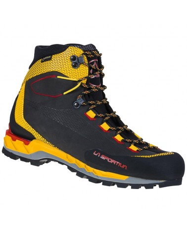 La Sportiva Trango Tech Leather GTX Gore-Tex Scarponi Alpinismo Uomo, Black/Yellow