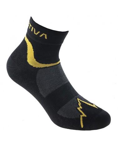La Sportiva Fast Running Men's Socks, Black/Yellow
