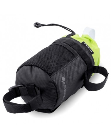 Acepac Fat Bottle Bag Tritan 1 Liter Compatible, Black