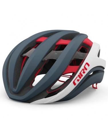 Giro Aether Spherical MIPS Raod Helmet, Matte Portaro Grey/White/Red