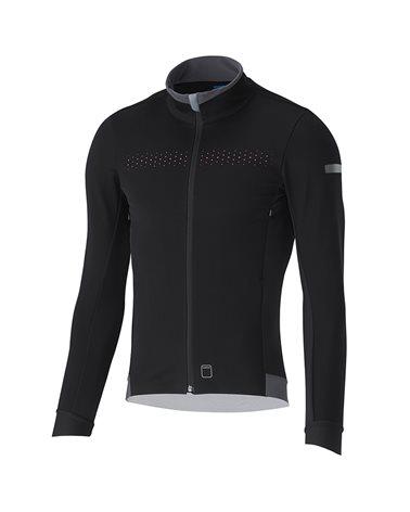 Shimano Evolve Wind Men's Full Zip Cycling Winter Jacket, Black