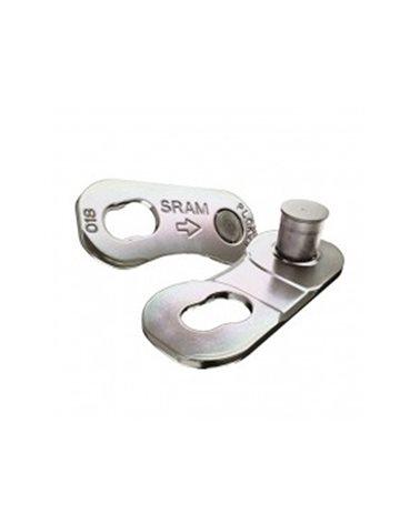 Sram Giunto Catena Bici 12 Velocità Road Power Lock D1, Silver (1 Coppia - Non Riutilizzabile)