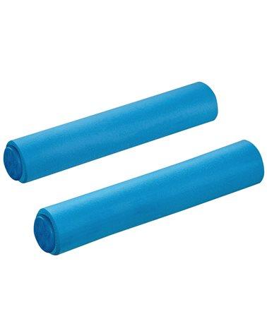 Supacaz Siliconez SL Manopole Schiuma di Silicone Memory 130mm, Blu Fluo