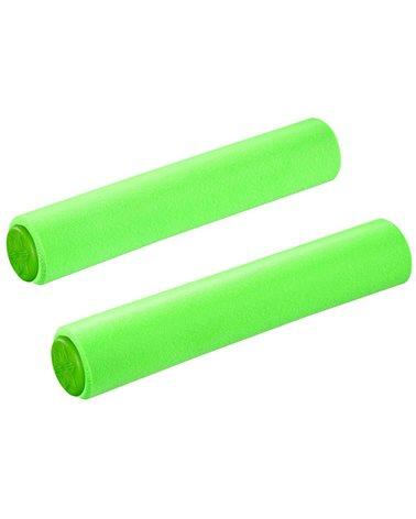 Supacaz Siliconez SL Manopole Schiuma di Silicone Memory 130mm, Verde Fluo