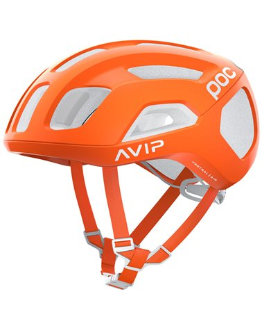 Poc Ventral Air Spin Road Cycling Helmet, Zink Orange AVIP
