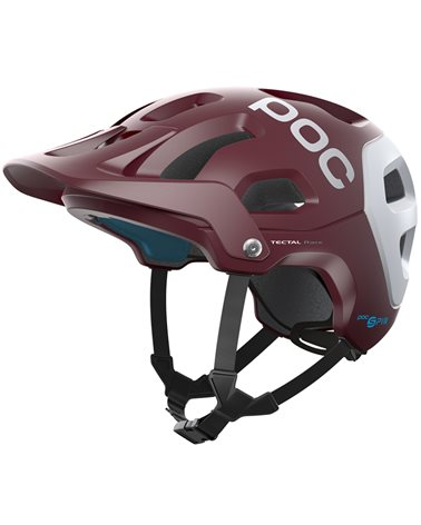 Poc Tectal Race Spin MTB Helmet, Propylene Red/Hydrogen White Matt