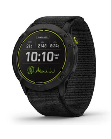 Garmin Enduro Wrist-Based HR GPS Multisport Watch, Carbon Grey DLC Titanium/Black