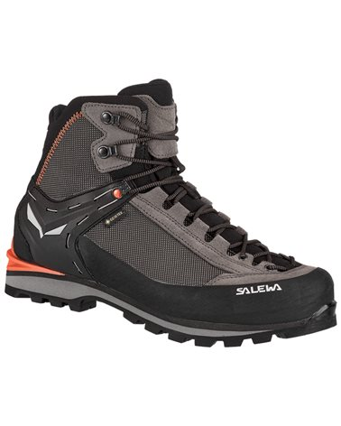 Salewa MS Crow GTX Gore-Tex Scarponi Uomo, Wallnut/Fluo Orange