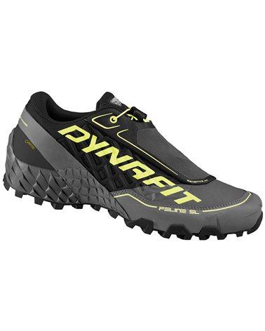 Dynafit Feline SL GTX Gore-Tex Men's Alpine Running Shoes, Black/Neon Yellow