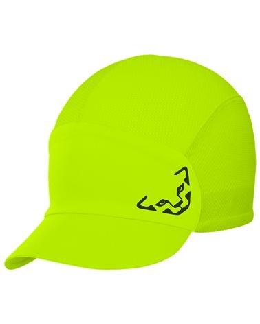 Dynafit React Visor Cap Cappellino con Visiera, Fluo Yellow/0910