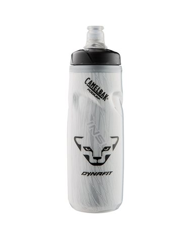 Dynafit Race Thermo Bottle Borraccia Termica 620ml con Chiusura Stagna Automatica, Transparent