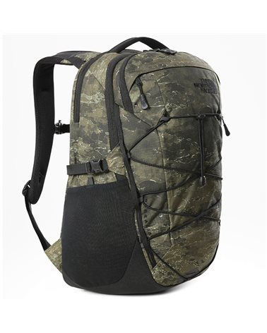 The North Face Borealis Backpack 28 Liters, Military Olive Cloud Camo Wash Print/Tnf Black
