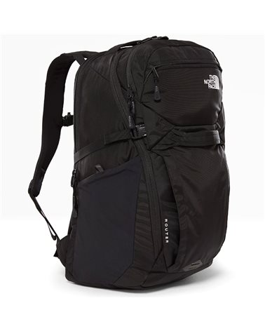 "The North Face Router Backpack 40 Liters 15"" Laptop Compatible, TNF Black"