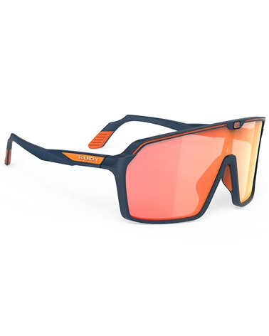 Rudy Project Spinshield Cycling Glasses, Blue Navy Matte - RP Optics Multilaser Orange