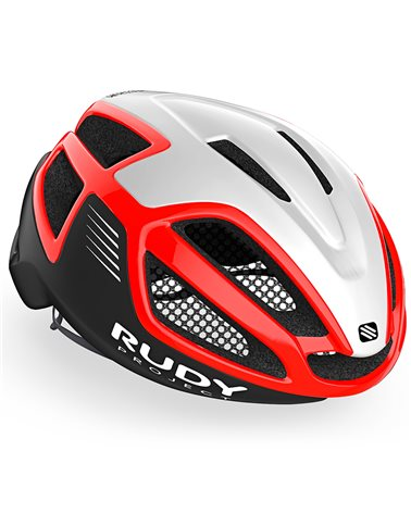 Rudy Project Spectrum Cycling Helmet, White/Red/Black (Matte/Shiny)