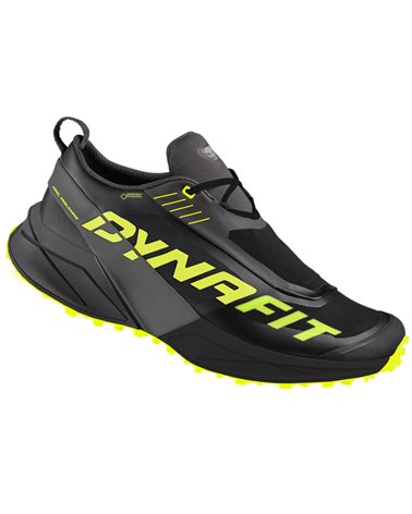 Dynafit Ultra 100 GTX Gore-Tex Men's Trail Running Shoes, Carbon/Neon Yellow