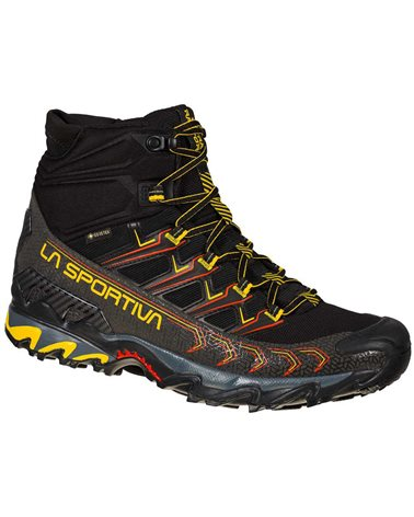 La Sportiva Ultra Raptor II MID GTX Gore-Tex Scarpe Trail Running Uomo, Black/Yellow