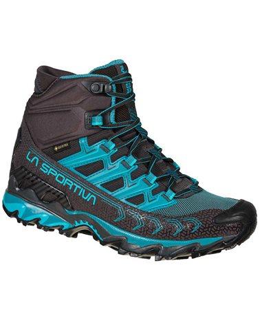 La Sportiva Ultra Raptor II MID GTX Gore-Tex Women's Speed Hiking Shoes, Carbon/Topaz