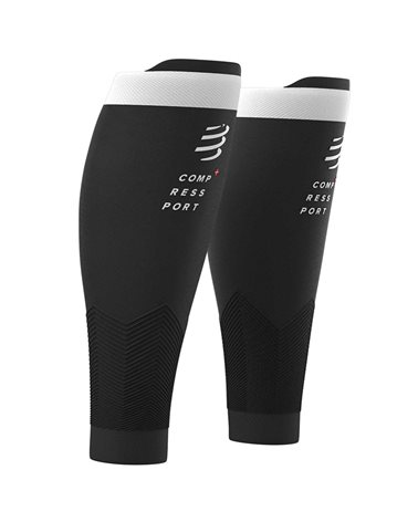 Compressport Calf R2 V2 Gambaletti a Compressione, Nero