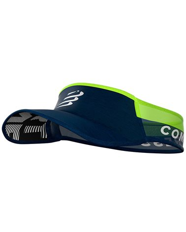 Compressport Visor Ultralight, Blue/Lime (One Size Fits All)
