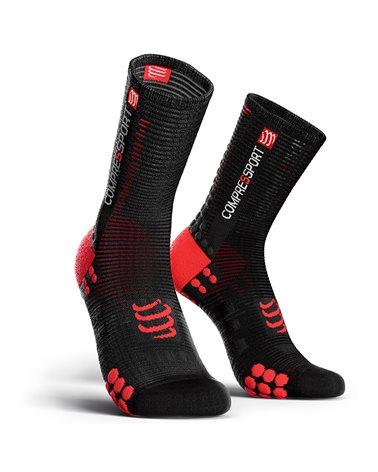 Compressport Pro Racing V3.0 Bike Compression Socks, Black/Red